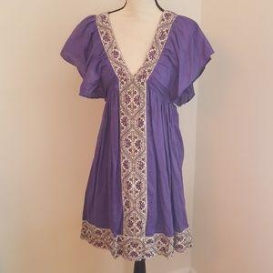 Antik Batik Purple Beaded Dress - New